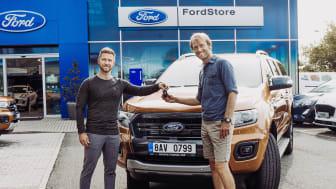 Jakub Vágner opět zvolil Ford Ranger. Nově jezdí modelem Wildtrak s motorem 2.0 EcoBlue Bi-Turbo
