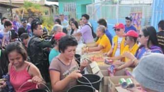 1 miljon US dollar till Filippinerna