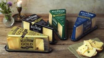 """Skånemejerier utökar nu sitt sortiment av långlagrade ostar med """"Allerum Gold""""."""