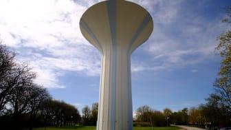 Det får rum 2 300 kubikmeter vatten i Bjuvs vattentorn.
