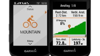 Die neuen Garmin GPS-Velocomputer Edge 530 und Edge 830