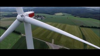Two of Obton Wind Turbines south of Frankfurt