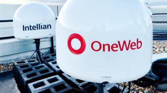 Intellian's OneWeb user terminals installed at OneWeb HQ, London