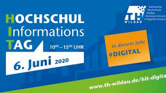 In diesem Jahr findet der Hochschulinformationstag der TH Wildau erstmals digital statt (Grafik TH Wildau)
