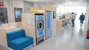 Tvättstudion i HSB Living Lab, Chalmers campus i Göteborg