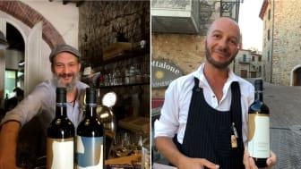 Elio Civitá, Osteria Fiaschatteria Rurale & Marco Fantini, Rest. Il Fanta; två krögare i Toscana som idag serverar det svensk-toscanska vinet från Lidingö; Högberga Blend, Högberga San och Högberga Merlot.