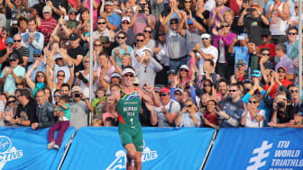 Richard Murray South African contender finishing in fifth position at the Discovery World Trialthlon Cape Town