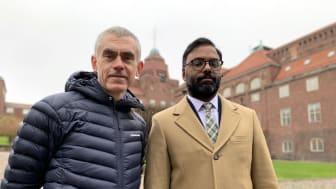 Jonny Flodin, forskare och universitetsadjunkt vid KTH och Kiram Sundblad, utbildningsledare på Folkuniversitetet Stockholm.