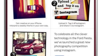 Ford presenterar tillsammans med Instagram och Facebook fototävlingen #Fiestagram