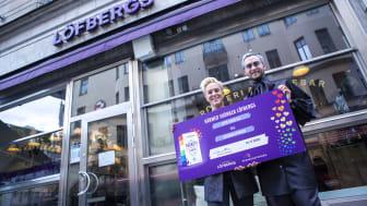 Löfbergs kunder stöttar Regnbågsfonden