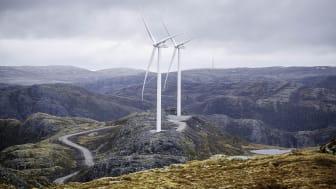 Roan vindpark er i full drift og vil årlig levere 900 GWh fornybar energi til regionen. Foto: Ole Martin Wold