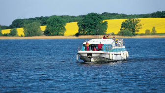 Husbåt på Mecklenburgische Seenplatte