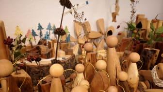 Kunsthandwerk im Pop Up Werkstattladen von Menschen mit Behinderung