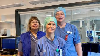 Karin, Marie och Jacob har arbetat och utvecklat leverablationer på Danderyds sjukhus