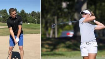 Jesper Lindgren och Tilda Larsson delar med sig av sina golfskills