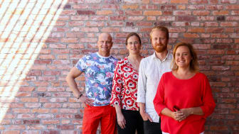 Från vänster: Ulf Seigerroth, Tekniska Högskolan i Jönköping, Leona Achtenhagen, Jönköping International Business School, Calle Andersson, Science Park och Annika Bergman, Jönköping University