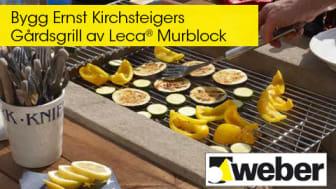 Bygg Ernst Kirchsteigers Gårdsgrill av Leca® Murblock