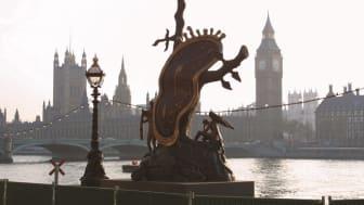 Salvador Dalís jätteskulptur Nobility of Time har visats  i bl.a. London - snart på plats i Stockholm