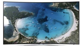 Samsung esittelee televisiomallistonsa lippulaivan – kaarevan UHD-television