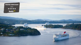 Fred. Olsen Cruise Lines is proud to be recognised as a Feefo 'Gold Trusted Merchant', for the third year in a row