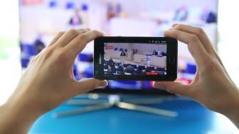 Samsungs app Smart view gör mobilen till en extra tv