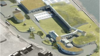 Så här planeras Öresundsverket se ut efter övertäckningen. Illustration: Fojab arkitekter.