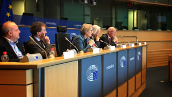 Julie Girling MEP (centre) introduces the panel at the IDEA Annual Review 2019