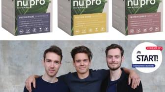 Die Gründer von nupro entwickelten den ersten 100% nachhaltigen und veganen Bio-Proteinshake mit einer ausbalancierten Mischung aus pflanzlichen Proteinquellen und Ballaststoffen