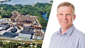 Pelle Berglund, affärsrådgivare på BizMaker har stöttat personer som drabbats av nedläggningen av sågverket i Östavall (Källa: Norra Skog)