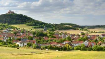 Amt Wachsenburg: Utsikt over Holzhausen i Thüringen
