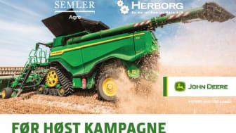 Vær klar til høsten og køb din smøreolie allerede i dag. Lige nu tilbyder vi skarpe kampagnepriser på de originale John Deere smøremidler hos Semler Agro og Herborg. Kampagnepriserne er  gældende fra 1. juni til 30. juni 2021.