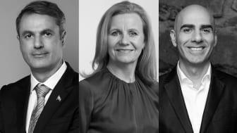 Ibrahim Baylan, Hélène Barnekow och Saeid Esmaeilzadeh. Foto Ibrahim Baylan: Kristian Pohl/Regeringskansliet.