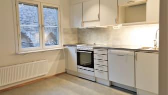 Köken i alla tre bostäder är utrustade med induktionshäll, varmluftsugn och diskmaskin.