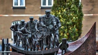 Asea-strömmen (1989) av Bengt-Göran Broström (1947 – 2004) är ett av Västerås mest välkända och uppskattade offentliga konstverk. Nu ska konstverket restaureras. Foto: Bo Gyllander