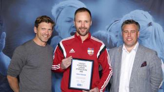 Tobias Svensson, Härnösands FF. Här tillsammans med Jesper Blomqvist och Mikael Tykesson.