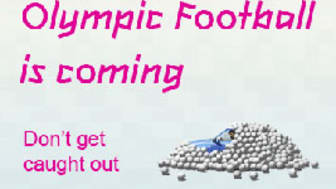 Olympic football - arrive early, plan your journey