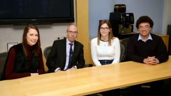 Ron Behrens CBE meeting Northumbria Law School students.