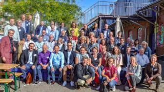 Bild tagen i samband med Future By Lunds konferens i augusti 2019. På bilden medverkar några av de personer som finns med i samarbetet – personer på företag, i innovationssystem, på universitetet, i kommunens förvaltningar och i politiken.