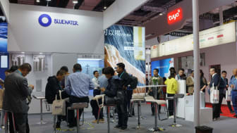 Bluewater booth showcases the company's water purifiers at CIIE expo in Shanghai
