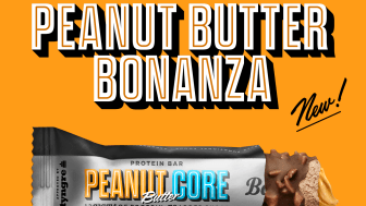 Nyhet från Barebells: Peanut Butter Core Bar.