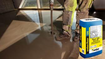 Snabb golvavjämning för värmegolv – weber.floor120 Reno DR