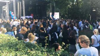 Studentslippet starter i hagen på St. Olavsgate 32, midt i Oslo sentrum. #finndittoslo (Foto: Lise Paulsrud Mjørlund / UiO)