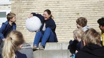 Majken Grünfeld på Sct. Mariæ Skole i Aalborg | Billedet er godkendt til brug i denne artikel af Novo Nordisk Fonden
