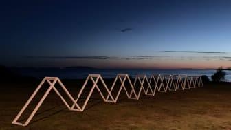 Konstverket The Wave av Franziska Agrawal. Foto: Franziska Agrawal