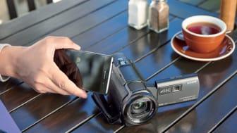 Beste Bildqualität für die schönsten Erinnerungen: Sony präsentiert neueste 4K Technologie in kleinem Camcorder