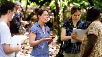 Magdalena Streijffert på producentresa i Ghana 2014.