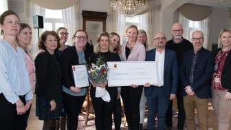 Personal från Kastanjens förskola tillsammans med ledamöter från Örebro kommuns jämställdhetsdelegation.