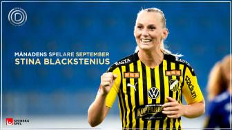 Blackstenius fick spelarnas röster – är Månadens Spelare i OBOS Damallsvenskan