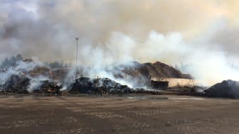 Bild tagen morgonen på Lilla Nyby den 4 augusti, dagen efter branden bröt ut.