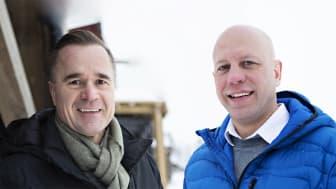Robert Waltari driver servicemarknaden i Norr- och Västerbotten. Hans Olofsson har ansvaret för marknad och försäljning från Kiruna ner till Sundsvall och Bollnäs.